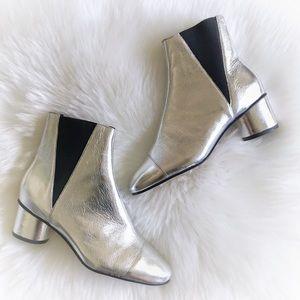 Rebecca Minkoff Silver Metallic Boots